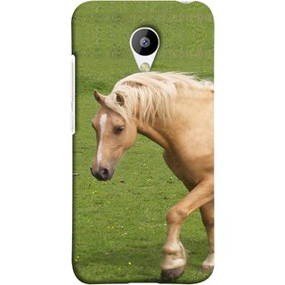 FUSON Designer Back Case Cover for Meizu M3 (White Horse In The Park On The Green Grass)