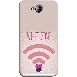 FUSON Designer Back Case Cover for Micromax Unite 3 Q372 :: Micromax Q372 Unite 3 (Love Wifi Zone Connect With Lovers Couples Hearts)
