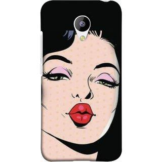 FUSON Designer Back Case Cover for Meizu M3 (Lips Kiss Heart Life Enjoy Planners Quotesgirls Dating Girls)
