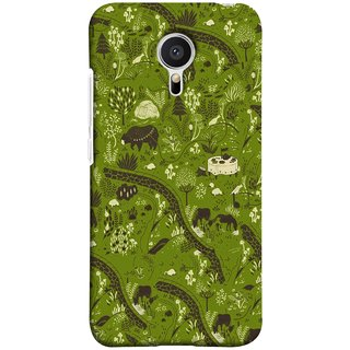 FUSON Designer Back Case Cover for Meizu M2 Note :: Meizu Note 2 (Green Grass Cow Mushrooms Leaves Branches )