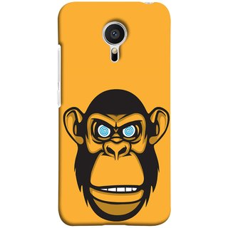 FUSON Designer Back Case Cover for Meizu M2 Note :: Meizu Note 2 (Orange Background Open Ears Black Hairs Jungle Nose)