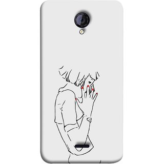FUSON Designer Back Case Cover for Micromax Unite 2 A106 :: Micromax A106 Unite 2 (Upset Walking Hands Together Pub Thinking Nail Paint )