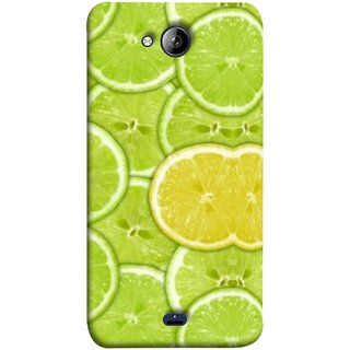 FUSON Designer Back Case Cover for Micromax Unite 3 Q372 :: Micromax Q372 Unite 3 (Lemon Lime Sweet Agriculture Farm Fresh Cut Cell)