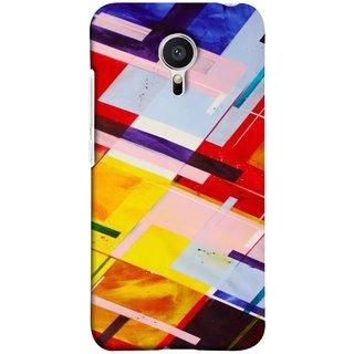 FUSON Designer Back Case Cover for Meizu M2 Note :: Meizu Note 2 (Bright Beautiful Colour Strips And Band Wave Triangle)