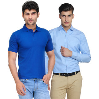 Van Galis Multicolor  Combo Of Mens Polo Tshirt And Casual Shirt For Men Pack Of-2