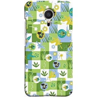 FUSON Designer Back Case Cover for Meizu M2 Note :: Meizu Note 2 (Pillow Bedsheet Designs Fish Grass Cat Yellow Flower Pattern)
