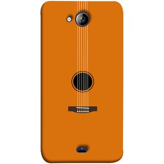 FUSON Designer Back Case Cover for Micromax Unite 3 Q372 :: Micromax Q372 Unite 3 (Musical Instrument Vintage Bass Music Lovers Play)