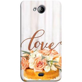 FUSON Designer Back Case Cover for Micromax Unite 3 Q372 :: Micromax Q372 Unite 3 (Cake Pink Rose Birthday & Decoration Ceremony Lily)