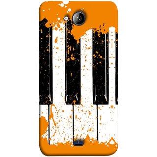 FUSON Designer Back Case Cover for Micromax Unite 3 Q372 :: Micromax Q372 Unite 3 (Black And White Colour Splash Droplets Music )