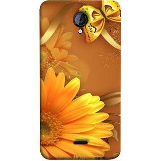 FUSON Designer Back Case Cover for Micromax Unite 2 A106 :: Micromax A106 Unite 2 (Butterfly Bright Beautiful Colorful Yellow Splendo Trees )