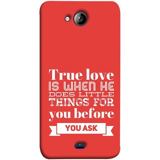 FUSON Designer Back Case Cover for Micromax Unite 3 Q372 :: Micromax Q372 Unite 3 (Ture Love When Before Ask Care Love Hearts)