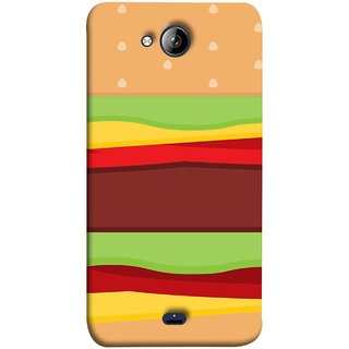 FUSON Designer Back Case Cover for Micromax Unite 3 Q372 :: Micromax Q372 Unite 3 (Artwork Green Red Lines Brown Circles Bubbles)