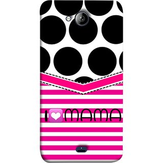 FUSON Designer Back Case Cover for Micromax Unite 3 Q372 :: Micromax Q372 Unite 3 (Pink Design Paper Big Black Circles Bubbles Mother )