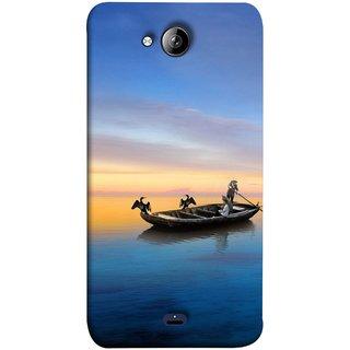 FUSON Designer Back Case Cover for Micromax Unite 3 Q372 :: Micromax Q372 Unite 3 (Water Sea Sky Beautiful Boat Cruise Horizon )