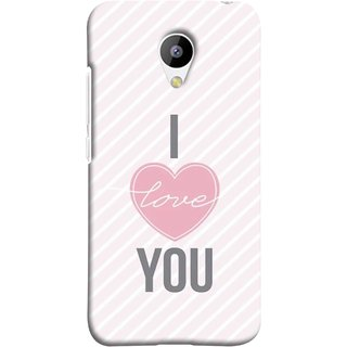 FUSON Designer Back Case Cover for Meizu M3 (Just Pinky Say Always I Love You Red Hearts Couples)