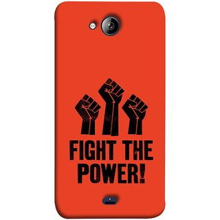 FUSON Designer Back Case Cover for Micromax Unite 3 Q372 :: Micromax Q372 Unite 3 (Always Fight For Truth Justice Will Stand Tall In Sky )