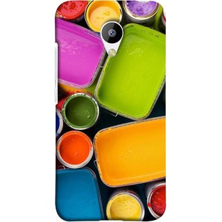FUSON Designer Back Case Cover for Meizu M3 (Cans And Paint On Colour Background Bright Full Joy )
