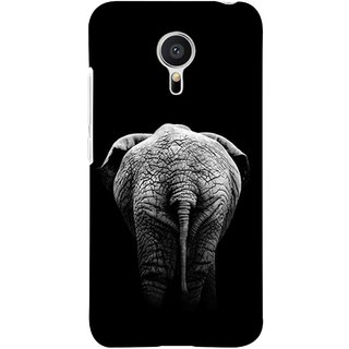 FUSON Designer Back Case Cover for Meizu M2 Note :: Meizu Note 2 (Side View Of Jungli Animal Forest Trees Leaves Branches)