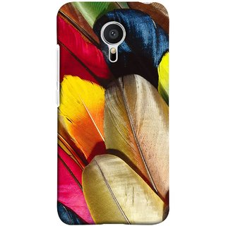 FUSON Designer Back Case Cover for Meizu M2 Note :: Meizu Note 2 (Yellow Balck Brown Golden Gold Silver Parrot Red )