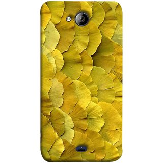FUSON Designer Back Case Cover for Micromax Unite 3 Q372 :: Micromax Q372 Unite 3 (Lotus Leaves In Row Heart Shape Old Dried )