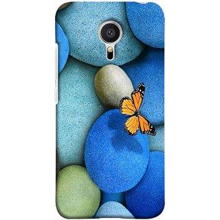 FUSON Designer Back Case Cover for Meizu M2 Note :: Meizu Note 2 (Butterfly Rocks Beautiful Colorful Blue Splendo Butterfly)