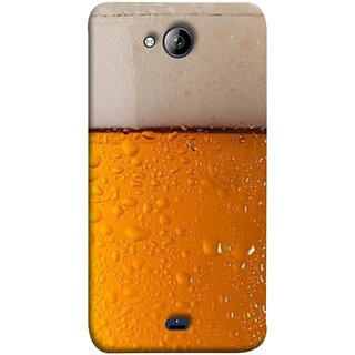 FUSON Designer Back Case Cover for Micromax Unite 3 Q372 :: Micromax Q372 Unite 3 (Cold Chilled Beer Glass Tub Pint Bubbles Full)