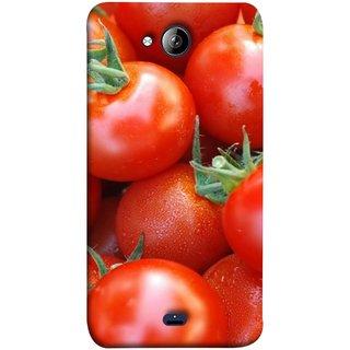 FUSON Designer Back Case Cover for Micromax Unite 3 Q372 :: Micromax Q372 Unite 3 (Ripe Red Cherry Tomatoes Background Shiny Beautiful)