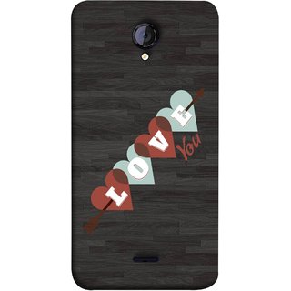 FUSON Designer Back Case Cover for Micromax Unite 2 A106 :: Micromax A106 Unite 2 (Grey Plywood Sunmica Best Perfect Wow Pyar Prem)