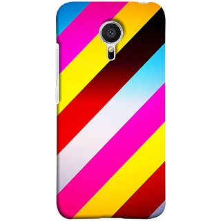 FUSON Designer Back Case Cover for Meizu M2 Note :: Meizu Note 2 (Gliding Striped Fabric Floral Patterns Shining Dark Patterns)