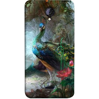FUSON Designer Back Case Cover for Micromax Unite 2 A106 :: Micromax A106 Unite 2 (Nice Colourful Long Pair His Mate Peacock Feathers Beak)
