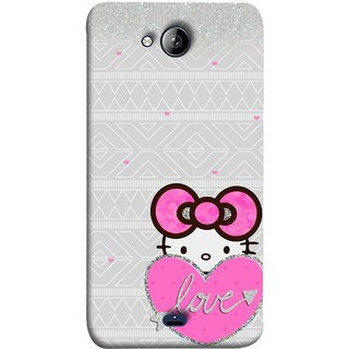 FUSON Designer Back Case Cover for Micromax Unite 3 Q372 :: Micromax Q372 Unite 3 (Silver Background Pink Red Love Bird Lovers Couples )