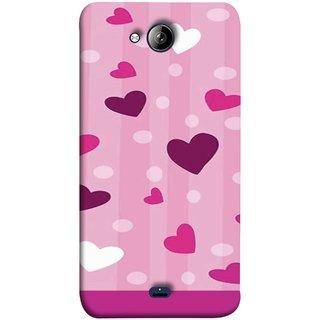FUSON Designer Back Case Cover for Micromax Unite 3 Q372 :: Micromax Q372 Unite 3 (Always I Love You Red Hearts Couples Together Valentine)