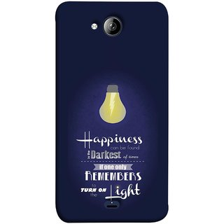 FUSON Designer Back Case Cover for Micromax Unite 3 Q372 :: Micromax Q372 Unite 3 (If Only One Remembers To Turn On The Light)