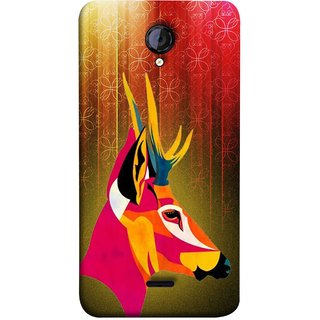 FUSON Designer Back Case Cover for Micromax Unite 2 A106 :: Micromax A106 Unite 2 (Christmas Deer Origami Merry Abstract Reindeer)