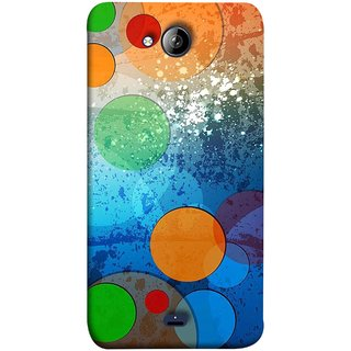 FUSON Designer Back Case Cover for Micromax Unite 3 Q372 :: Micromax Q372 Unite 3 (Lot Small Big Circles Glass Door Table )