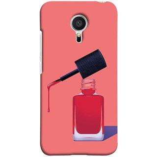 FUSON Designer Back Case Cover for Meizu M2 Note :: Meizu Note 2 (Beautiful Cute Nice Couples Pink Design Paper Girly)