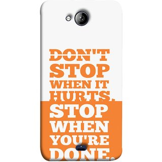 FUSON Designer Back Case Cover for Micromax Unite 3 Q372 :: Micromax Q372 Unite 3 (Stop When You Are Done Always See Targets )