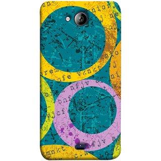 FUSON Designer Back Case Cover for Micromax Unite 3 Q372 :: Micromax Q372 Unite 3 (Nila Pila Circles Tiles Bright Cool Typography )