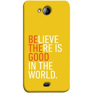 FUSON Designer Back Case Cover for Micromax Unite 3 Q372 :: Micromax Q372 Unite 3 (Think Positive Act Nicely Good Peoples Happy World)