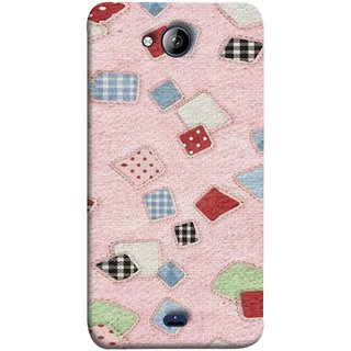 FUSON Designer Back Case Cover for Micromax Unite 3 Q372 :: Micromax Q372 Unite 3 (Baby Pink Lot Colours Squares Patch Tiles )