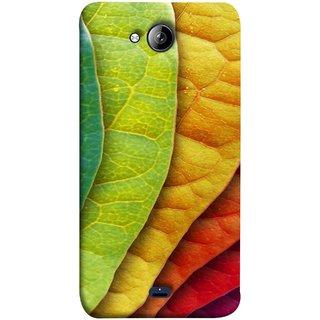 FUSON Designer Back Case Cover for Micromax Unite 3 Q372 :: Micromax Q372 Unite 3 (Nature Colour Big Lotus Leaves Network Of Veins)