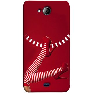 FUSON Designer Back Case Cover for Micromax Unite 3 Q372 :: Micromax Q372 Unite 3 (High Heel Red And White Socks Beautiful Legs Girl)