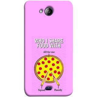 FUSON Designer Back Case Cover for Micromax Unite 3 Q372 :: Micromax Q372 Unite 3 (Pizza Hut Domino Tomato Pizza Cheese Share Sharing)