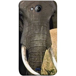 FUSON Designer Back Case Cover for Micromax Unite 3 Q372 :: Micromax Q372 Unite 3 (Close Up Portrait Of A Baby Elephant Long Ears Strips Forest)