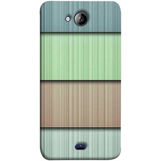 FUSON Designer Back Case Cover for Micromax Unite 3 Q372 :: Micromax Q372 Unite 3 (Strips Green Gray Sunmica Plywood Back Art)