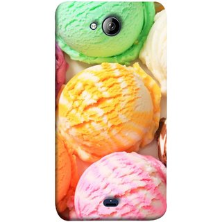 FUSON Designer Back Case Cover for Micromax Unite 3 Q372 :: Micromax Q372 Unite 3 (Colourful Ice Cream Berry Cherry Pista Flavours )