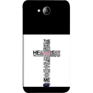 FUSON Designer Back Case Cover for Micromax Unite 3 Q372 :: Micromax Q372 Unite 3 (The Lord Is My God Jesus No Fear No Evil Soul Christ)