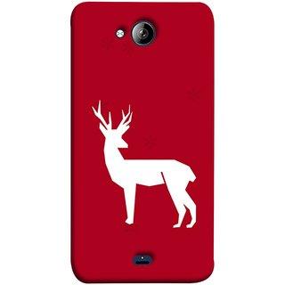 FUSON Designer Back Case Cover for Micromax Unite 3 Q372 :: Micromax Q372 Unite 3 (Illustration Silhouette Majestic Standing Reindeer)