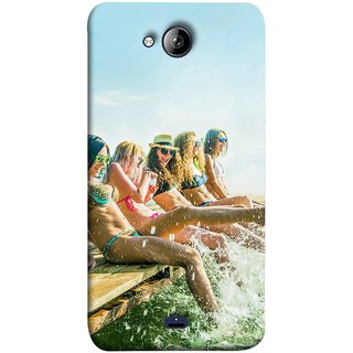 FUSON Designer Back Case Cover for Micromax Unite 3 Q372 :: Micromax Q372 Unite 3 (Group Of Happy Young Woman Feet Splash Water In Sea)
