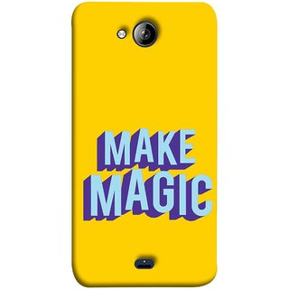FUSON Designer Back Case Cover for Micromax Unite 3 Q372 :: Micromax Q372 Unite 3 (Wand Magically Make Differnece To Others Life )
